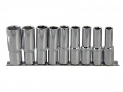 BlueSpot Tools Deep Socket Set of 9 Metric 1/2in Square Drive