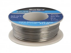 BlueSpot Tools Flux Covered Solder 100g 60/40