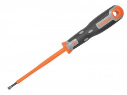 Bahco Tekno+ VDE Screwdriver Slotted Tip 4.0mm x 100mm