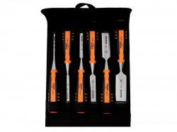 Bahco 424-P Bevel Edge Chisel Set 6 Piece in Pouch