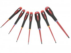 Bahco BE-9888S VDE ERGO Screwdriver Set 7 Piece SL/PZ
