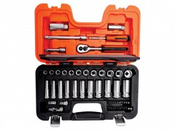 Bahco S330L Socket Set of 53 Metric 1/4in & 3/8in Deep Drive