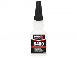 Bondloc B480 Black Rubber Toughened Cyanoacrylate 20g