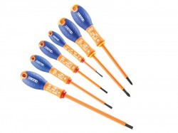 Britool Expert Screwdriver Set 6 Piece Insulated Slotted/Phillips