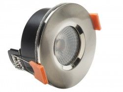 Byron LED Fire Rated Anti-Glare Downlight 3.8W Satin Nickel 240V