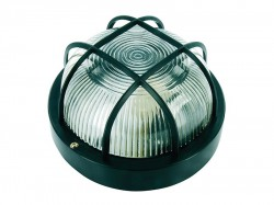 Byron Black Plastic Bulkhead Light - No Bulb