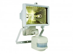 Byron ES120W Halogen Floodlight with PIR White 120 Watt