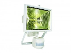 Byron ES400W Halogen Floodlight with PIR White 400 Watt