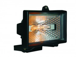 Byron HL120 Halogen Floodlight Black 120 Watt