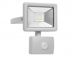 Byron Ultra Slim Integrated LED Floodlight With Sensor 10 Watt 800 Lumen