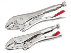 Crescent® Curved Jaw Locking Pliers with Wire Cutter Set  2 Piece
