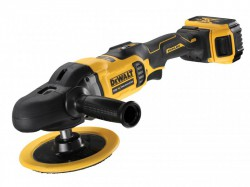 DEWALT DCM849P2 XR Brushless Rotary Polisher 180mm 18V 2 x 5.0Ah Li-ion