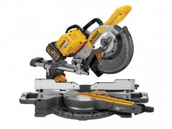 DEWALT DCS727T2 XR FlexVolt Brushless Slide Mitre Saw 250mm 18/54V 2 x 6.0/2.0Ah Li-ion