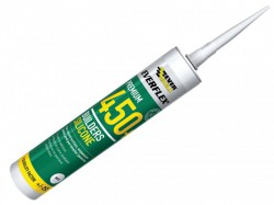 Everbuild 450 Builders Silicone Sealant Clear 310ml