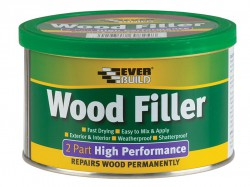 Everbuild Wood Filler High Performance 2 Part Medium Stainable 500g