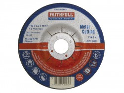 Faithfull Cut Off Disc for Metal Depressed Centre 100 x 3.2 x 16mm