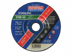 Faithfull Grinding Disc for Stone Depressed Centre 100 x 6 x 16mm