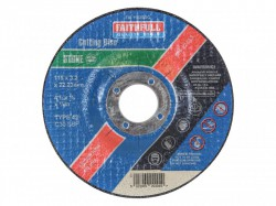 Faithfull Cut Off Disc for Stone Depressed Centre 115 x 3.2 x 22mm