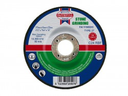 Faithfull Grinding Disc for Stone Depressed Centre 115 x 6.5mm x 22mm