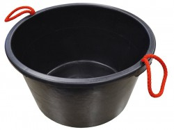 Faithfull Builders Bucket Black 40 Litre (9 Gall)
