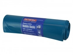 Faithfull Blue Heavy-Duty Rubble Sacks (Roll 10)
