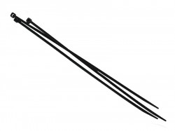 Faithfull Cable Ties Black 200mm x 3.6mm Pack of 100