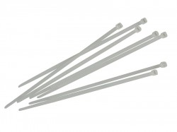 Faithfull Cable Ties White 200mm x 3.6mm Pack of 100