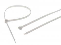 Faithfull Heavy-Duty Cable Ties White 905mm x 9mm Pack of 10