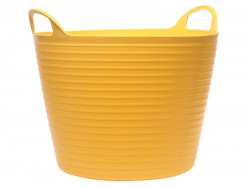 Faithfull Heavy-Duty Polyethylene Flex Tub 42 Litres Yellow