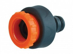 Faithfull Plastic Tap Hose Connector 1/2 & 3/4in