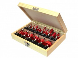 Faithfull Router Bit Set of 15 TCT 1/2in Shank