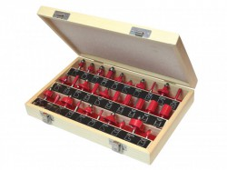 Faithfull Router Bit Set of 30 TCT 1/4in Shank