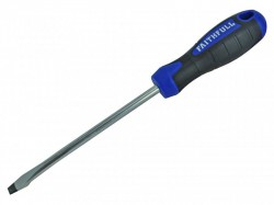 Faithfull Soft-Grip Screwdriver Slotted Flared Tip 8mm x 150mm