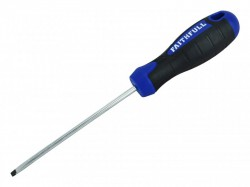 Faithfull Slotted Parallel Soft Grip Screwdriver 100mm x 4mm