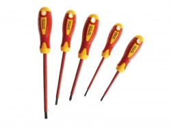 Faithfull VDE Screwdriver Soft-Grip Set of 5