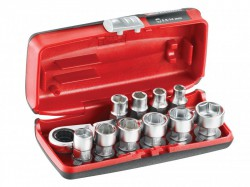 Facom 1/4in Drive 6-Point Hex Metric Socket Set, 11 Piece
