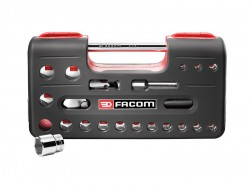 Facom 1/2in Std 6 Pt Socket Set of 21 1/2in Drive