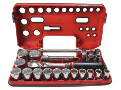 Facom 12Pt Detection Box Socket Set 22 Piece Metric 1/2in Drive