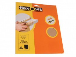 Flexovit Glasspaper Sanding Sheets 230 x 280mm Assorted (25)