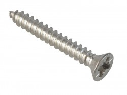 ForgeFix Self-Tapping Screw Pozi Compatible CSK A2 SS 1in x 6 ForgePack 30