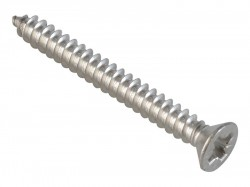 ForgeFix Self-Tapping Screw Pozi Compatible CSK A2 SS 1.1/2in x 8 ForgePack 12