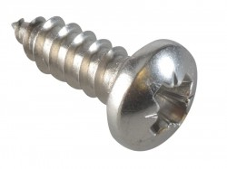ForgeFix Self-Tapping Screw Pozi Compatible Pan A2 SS 1/2in x 8 ForgePack 40