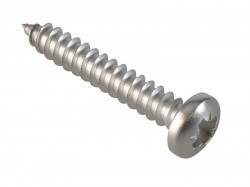 ForgeFix Self-Tapping Screw Pozi Compatible Pan A2 SS 1in x 8 ForgePack 25