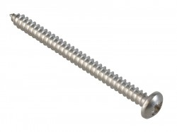 ForgeFix Self-Tapping Screw Pozi Compatible Pan A2 SS 2in x 8 ForgePack 12