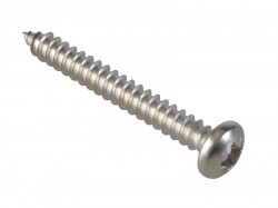ForgeFix Self-Tapping Screw Pozi Compatible Pan A2 SS 1.1/2in x 10 ForgePack 10