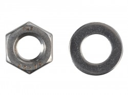 Forgefix Hexagonal Nuts & Washers A2 Stainless Steel M10 Forge Pack 8