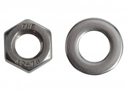 Forgefix Hexagonal Nuts & Washers A2 Stainless Steel M8 Forge Pack 12