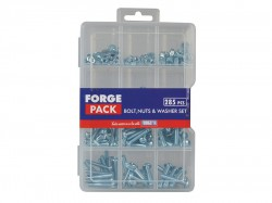 Forgefix Hexagon Bolt, Nut & Washer Kit Forge Pack 285 Piece