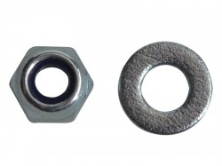 Forgefix Nyloc Nuts & Washers Zinc Plated M4 Forge Pack 50