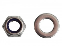 Forgefix Nyloc Nuts & Washers A2 Stainless Steel M8 Forge Pack 12